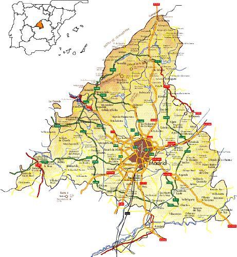 Municipios De Madrid Mapa.Municipios De Madrid Mapa